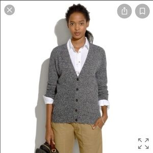 Madewell Wool Grey Journal Cardigan sz small✨